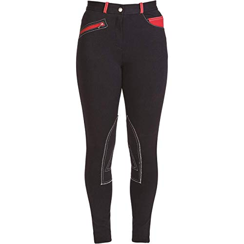 HyPERFORMANCE Womens/Ladies Jean Look Jodhpurs (28in) (Navy/Red)
