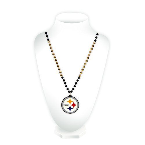 - Luggage Spotter Steelers Mardi GRAS Sports Beads Medallion Closeout! ONLY ONE Left!