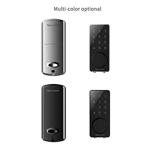 [Newest]Smart Lock, NexTrend Smart Electronic Door Lock with Bluetooth Keyless, Touchscreen, Mechanical Keys Enabled Auto Lock & Alarm Technology for Home/Hotel/Apartment, Silver by NexTrend (Image #6)