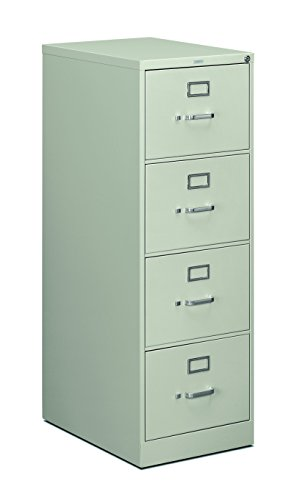 Light Gray Vertical 4 Drawer (HON 4-Drawer Legal File - Full-Suspension Filing Cabinet with Lock, 52 by 25-Inch Light Gray (H514))