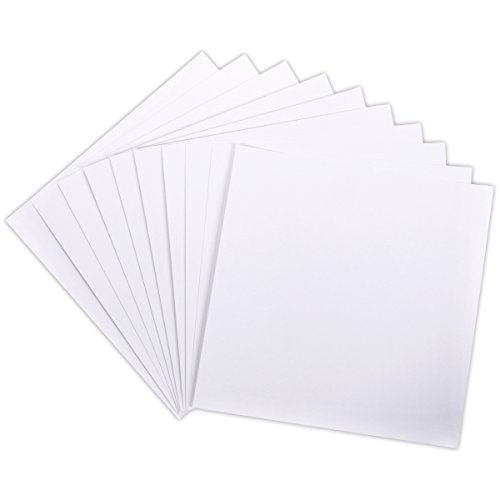 Canvas Card (Darice Core'dinations Canvas Textured Cardstock, 12 by 12-Inch/80-Pound, White,)