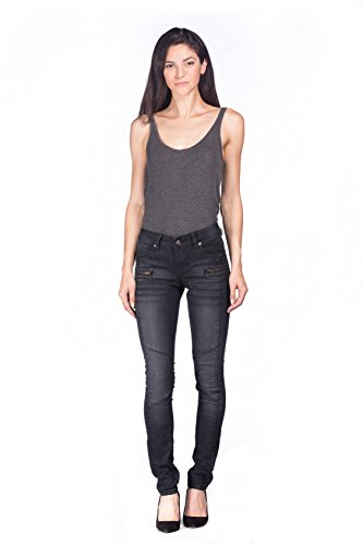 Colony Womens Juniors Washed Stretch