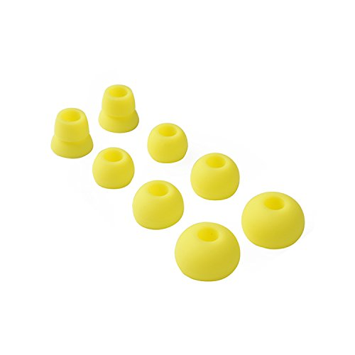 Replacement Silicone Ear Tips Earbuds Buds Set for Powerbeats 2 Wireless beats by dre headphones,4 Pairs (Yellow) (Yellow Tip)