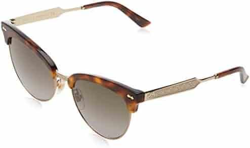 0838d682c0 Gucci GG0055S Sunglasses 002 Havana Gold   Brown Gradient Lens 55 mm