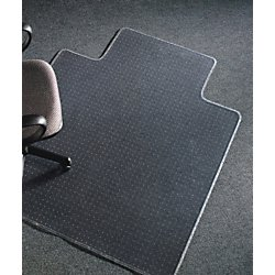 Realspace(R) Advantage Chair Mat, Wide Lip, For Thin Commercial-Grade Carpets, 45in.W x 53in.D, Clear by Realspace