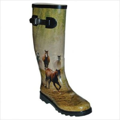 Womens Itasca Boots (ITASCA MISTY PONY 3D HORSE WATERPROOF RUBBER BOOT WOMENS SIZE 11)