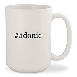 #adonic - White Hashtag 15oz Ceramic Coffee Mug Cup