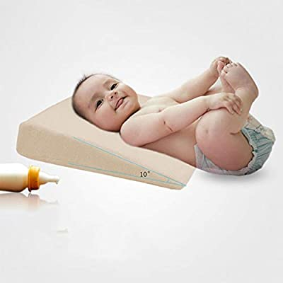 PinShang Wedge Bed Pillow Elevated Supportive Cushion Safe Universal Crib Wedge for Baby Slant Acid Reflux Anti-Vomiting Supplies