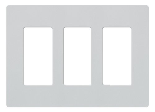 Lutron SC-3-PD Claro Three-gang Wallplate Palladium by Lutron