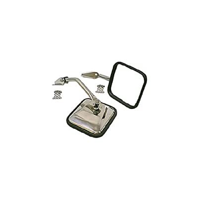 Rugged Ridge 11005.01 Stainless Side Mirror - Pair: Automotive