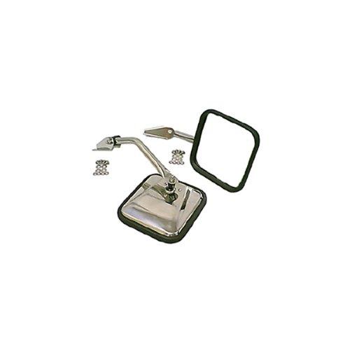 Cj7 Mirror Jeep 1986 (Rugged Ridge 11005.01 Stainless Side Mirror - Pair)