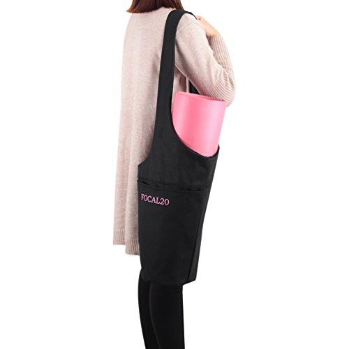 Focal20 Yoga Mat Bag Tote Yoga Bag with Zipper Pocket Long Strap Sling Carrier Large Pocket