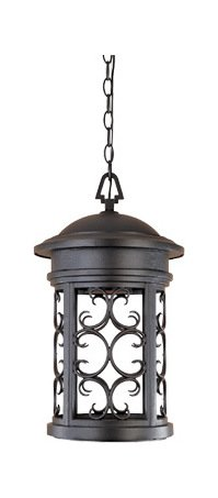 Oil Rubbed Bronze 1 Light 11in. Hanging Lantern from the Dark Sky Barrington Collection by Designers Fountain
