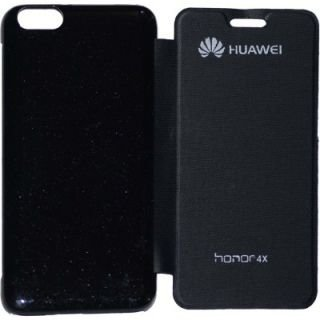premium selection b6fd7 64f03 Coverage Flip Cover for HUAWEI HONOR 4X (Black)