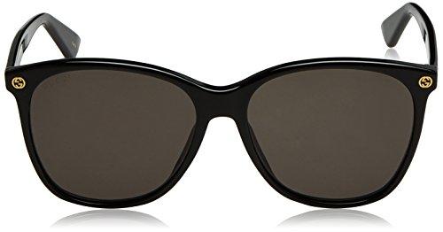 e58bc7a0760 Amazon.com  Gucci 0024S 001 Black 0024S Round Sunglasses Lens Category 3  Size 58mm  Gucci  Clothing