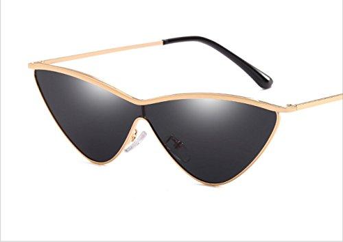 2018 Europe and the United States gradually changing sun glasses Siamese cat sunglasses fashion triangle ladies sunglasses ( Color : 1 )