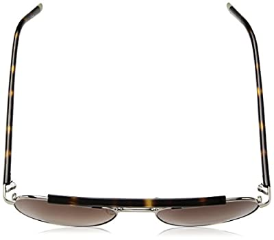 Calvin Klein Men's Ck1220s Aviator Sunglasses, Light Gold, 54 mm