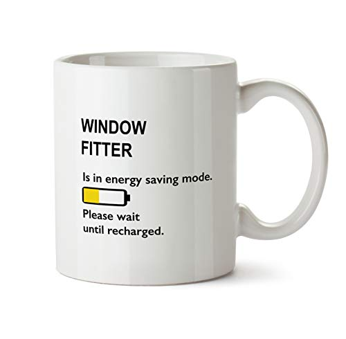 Best Ever Window Fitter Gift Mug - BB102 Funny Thank You Appreciation Coworker Coffee Cup - White Novelty Work Office Present For Men Women by BarborasBoutique (Image #1)
