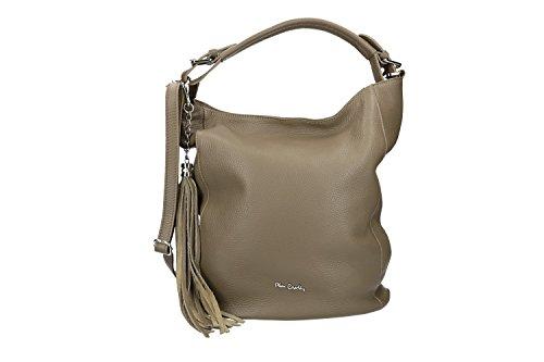 Bolsa mujer shopper PIERRE CARDIN barro cuero martillado Made in Italy VN2584