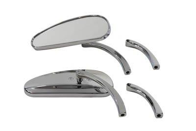 V-Twin 34-1217 - Deco Mirror Set Billet Chrome