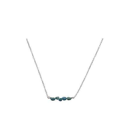 Necklace with Rough Cut Turquoise Nuggets - The Locus Collection ()