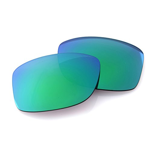 LenzFlip Replacement Lenses for Ray Ban New Wayfarer RB2132 (Size 55mm) | Brown Polarized with Green Mirror | 100% UV ()