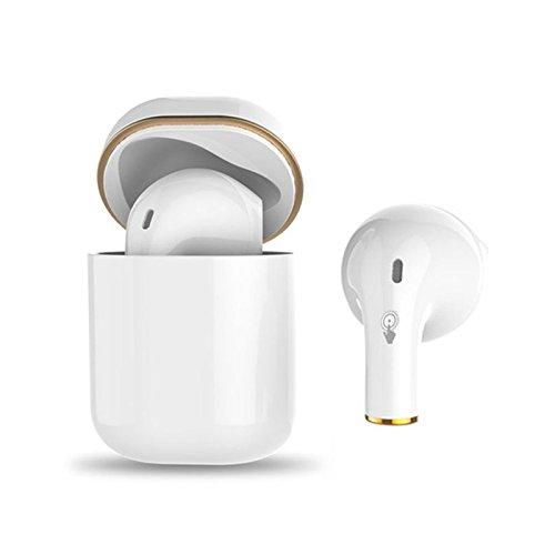 Leoie シングルイヤホン ミニ Bluetooth 4.2 イヤホン 充電ケース付き 防水 ヘッドセット DSP ノイズリダクション   B07K15LRJ8