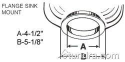 Mounting Gasket, Rubber, Chrome (Insinkerator Standard Mounting Gasket)