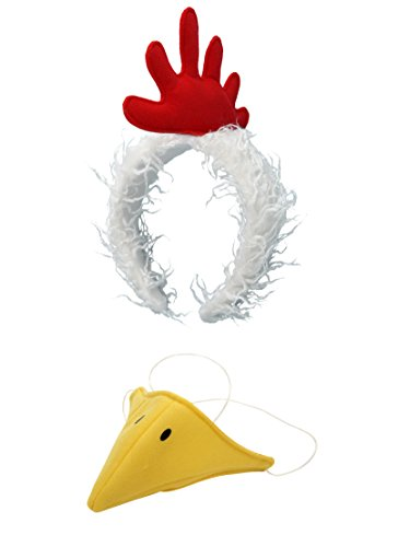 elope Chicken Costume Plush Headband and Beak Kit]()