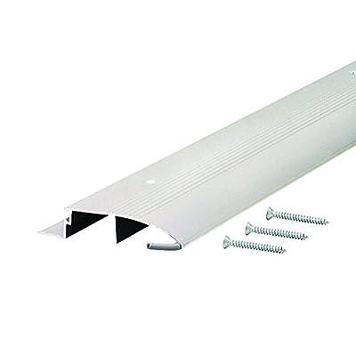 """Low 3-1/2"""" Wide Aluminum Door Bumper Threshold - #99011"""