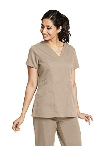 Grey's Anatomy 41452 V-Neck Top New Khaki XS