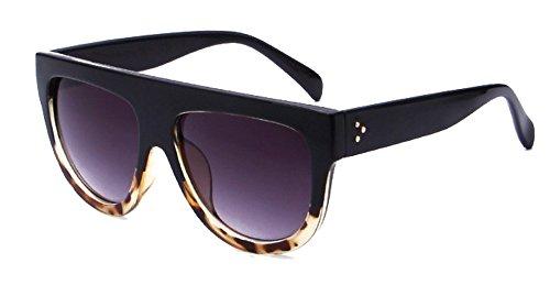 Qissy Femmes Designer Unisex erres Teintés UV400 Classique Lunettes de soleil en Oversize Lunettes Club master (G) EGFXEC