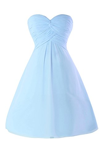 Front Homecoming Strapless Knotted Blue Dress Sky Dasior Women's Prom Chiffon Ruched wICqCpFT