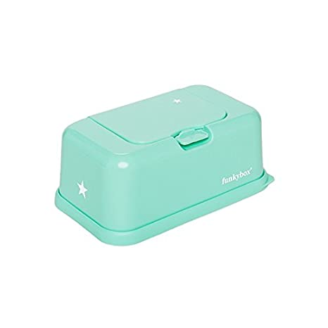 Funky Box FB03 Funkybox - Cajita para toallitas húmedas, color verde diseño estrella: Amazon.es: Bebé