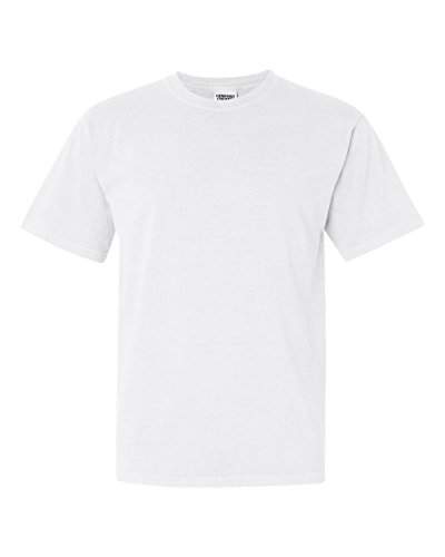 (Comfort Colors Pigment-Dyed Short Sleeve T-Shirt 1717 XL White)