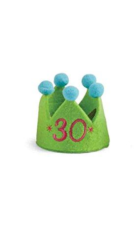 Mud Pie Felt Birthday Party Hat w/Pom-Pom (30) (Mud Pie Cake Headband)