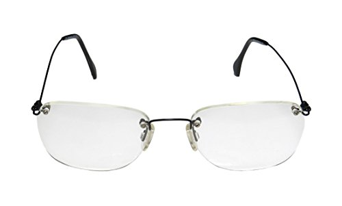 Ice 6 MensWomens Oversized Rimless EyeglassesEyewear (52-18-140 Black)