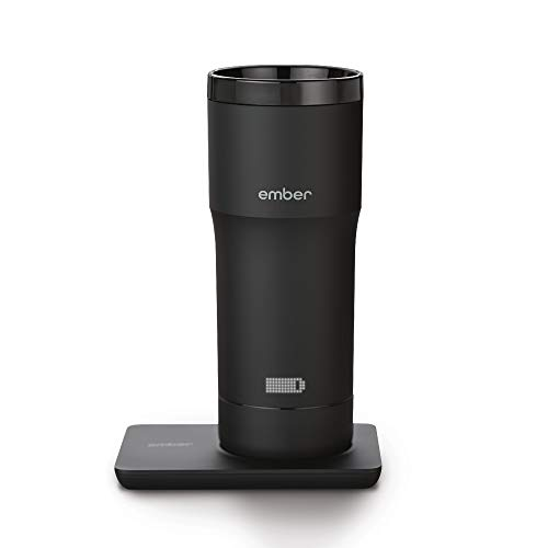 Ember Temperature Control Travel Mug, 12 Ounce, 2-hr Battery Life, Black - App Controlled Heated Coffee Travel Mug