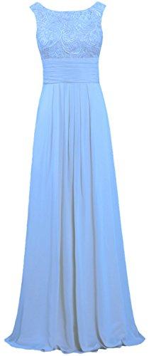 ANTS Lace Chiffon Tank Long Pale Dresses Blue Gown Evening Prom Women's SqSZarw4