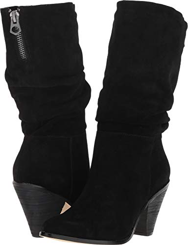 Chinese Laundry Women's Stella Mid Calf Boot, Black Suede, 6 M US