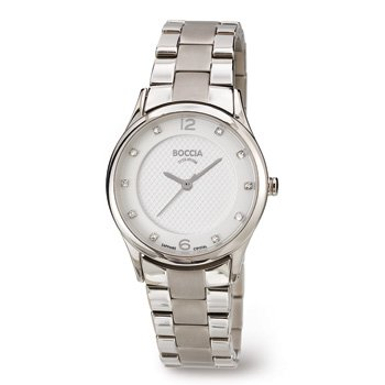 3227-02 Ladies Boccia Titanium Watch with Swarovski Crystals