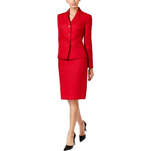Le-Suit-Womens-Tweed-3-Button-Jacket-Skirt-Suit-2