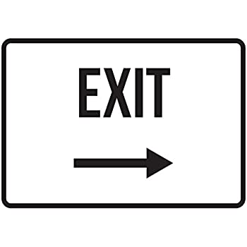 Plastic 7.5x10.5 iCandy Products Inc Push Button Bellow to Exit No Parking Business Safety Traffic Signs Black