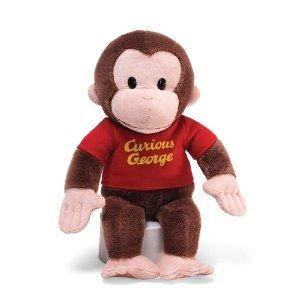 Gund Curious George Red Shirt 12″ Plush, Baby & Kids Zone
