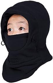 TRIWONDER Kids Balaclava Hood Ski Face Mask Neck Warmer Winter Fleece Hat for Toddlers Boys Girls