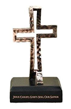 (Bronze Tabletop 3D Crossfish Statue - 6