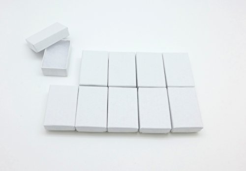 Cypress Lane White Jewelry Paper Boxes, 1-3/4 by 1-1/8 by 5/8-inch, Cotton Filled,Swirl Pattern (Nesting Swirls Set)