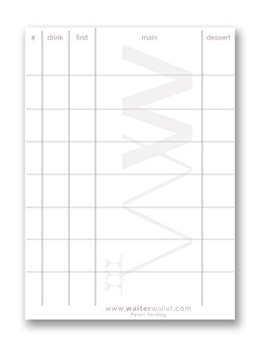 Waiter Wallet Order Pads | Perfectly Formatted For Accurate Waiter & Waitress Guest Order Taking | Durable Stapled Construction | 50 Perforated Pages In Each Pad | 12 pack of 4 x 6 Pads