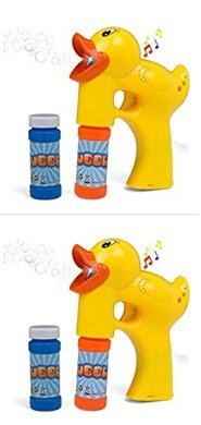 LilPals Bubble Gun Shooter Amazing Two Pack Bundle - Duck Bubble Gun Machine Blasters - Solutions Included - Superb Detail, Battery Operated, Provides SEEMINGLY Endless Barrage of Bubbles (2 Pack)