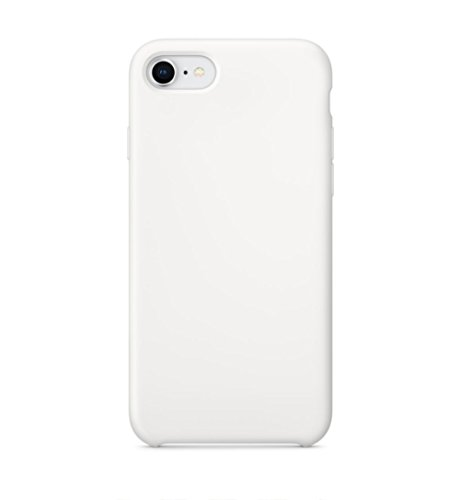 iPhone 8 Case, iPhone 7 Case Turboboost Liquid Silicone Gel Rubber Case Cover with Soft Microfiber Cloth Lining Cushion for Apple iPhone 7/8 (Super White, Iphone7/8)